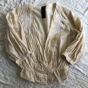 Free People New Romantic cotton embroidered boho S